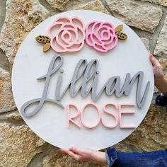 24 Floral Round Custom Name Wood Sign Nursery Decor. Floral Round Custom Name Wood Sign - Nursery Decor - Name Cut Out - Baby Room - Nursery Decor - Personalized Sign - Custom Wall Decor Wood Name Sign, Wood Names, Nursery Signs, Nursery Decor, Floral Nursery, Nursery Wall Art, Nursery Ideas, Projects For Kids, Diy For Kids
