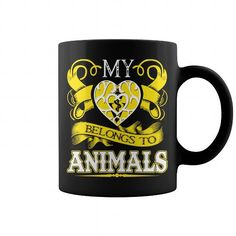 I Love My Heart Belong To Animals T shirts