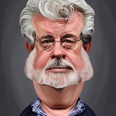 George Lucas art | decor | wall art | inspiration | caricature | home decor | idea | humor | gifts