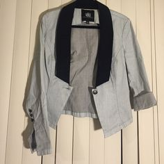 Rock & Republic Denim Jacket Cute blazer jacket never work with cute sleeve detail Rock & Republic Jackets & Coats Blazers