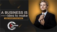 A Business Is Simply An Idea To Make Other People's Lives Better #business #idea #better #motivational #b2b #marketing #b2bbusiness #businessmotivational Business Motivation, Other People, Motivational, Wellness, Activities, Marketing, How To Make, Life