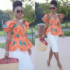 Owning Ankara material is very easy but deciding on topnotch style to sew can be difficult atimes. For some individuals like myself, we have to browse till we can find classy Ankara styles. Latest African Fashion Dresses, African Print Dresses, African Dresses For Women, African Print Fashion, Africa Fashion, African Attire, African Wear, African Women, Ankara Fashion