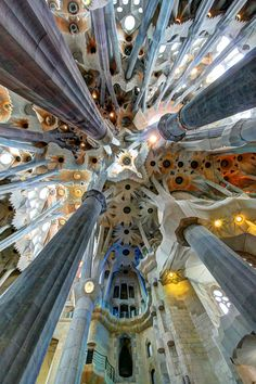 "Sagrada Familia (Church of the Holy Family), Barcelona, Spain. Designed by Antoni Gaudi (who was killed after being struck by a tram in 1926, aged 73), and under construction for 130 years (it's now 2013), art critic Rainer Zerbst (who's written at least four books on Gaudi), said : ""It is probably impossible to find a church building anything like it in the history of art."""