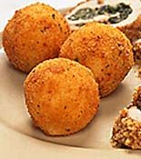 Mashed potato croquettes!  So easy and a fun way to update mashed potatoes.