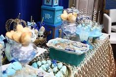 Image result for royal blue gold and white baby shower