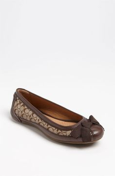 COACH 'Saundra' Flat (Nordstrom Exclusive) available at #Nordstrom Cute !! Matches my Coach bag - :D