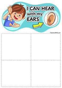 Five Senses Sorting Activity for Preschool, Pre-K, and Kindergarten Students Five Senses Preschool, Kindergarten Science Activities, My Five Senses, Senses Activities, Preschool Special Education, Preschool Learning Activities, Sorting Activities, Preschool Worksheets, Book Activities