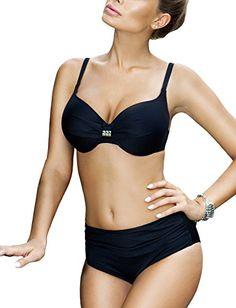 e5c5373248 Ewlon Blanca summery trendy two piece bikini made in EU Black38E18 -- Click  for Special Deals  Bikini