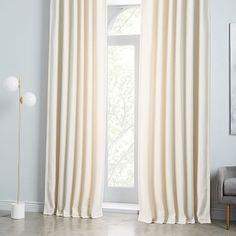 Worn Velvet Curtain - Ivory #westelm