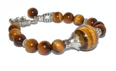 Yellow Tiger Eye Bracelet with Hamsa Hand Charm...Solar Plexus Chakra Bracelet...by iyildiz, $20.00
