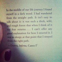 Dante, Inferno Canto I