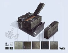 Halo 4 Concept Art by Thomas Scholes Showing material and texture 343 Industries, Concept Art World, Crayon Box, Alien Creatures, Concept Weapons, Prop Design, Game Concept, Fantasy Weapons, Cool Inventions
