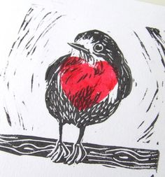 I adore this Lino Print illustration by Ink Me Up