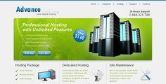 Advance Hosting - Web Hosting Template . Advance Hosting, clean style web hosting