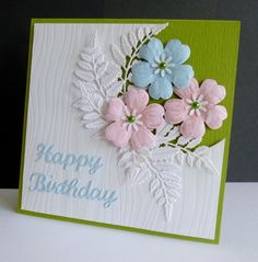 CC599 ~ Birthday Ferns by sistersandie - Cards and Paper Crafts at Splitcoaststampers