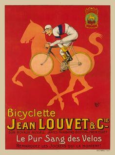 poster vintage biciclette Jean Louvet & Cie