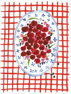 Virginia Johnson: Here is the summer illustration series I did for. Fruit Illustration, Food Illustrations, Virginia Johnson, No Photoshop, Art Inspo, Food Art, Art Drawings, Picnic, Art Prints