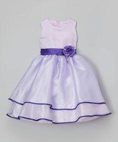 14fa1f0071a Purple Sash Flower Dress - on zulily Flower Dresses