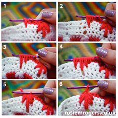 How to crochet a Clustered Spike Stitch or leaf stitch