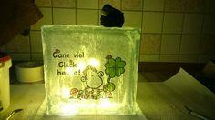 Lampen aus Glasbaustein.