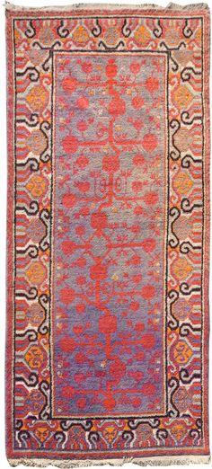 "OLD SAMARKAND Origin: EAST TURKESTAN Size: 3' 1"" x 6' 10"" Rug ID # 8862"