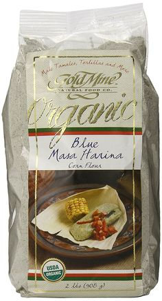Gold Mine Organic Masa Harina Corn Flour, Blue, 2 Pound >>> Click on the image for additional details.