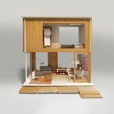 After Barbie outgrew the pink plastic house - Miniio modern dollhouse