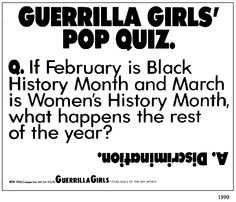 guerrilla girls statistics - Google Search