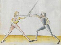 Lecküchner, Hans: Kunst des Messerfechtens Nordbayern, 1482 Cgm 582 Folio 82