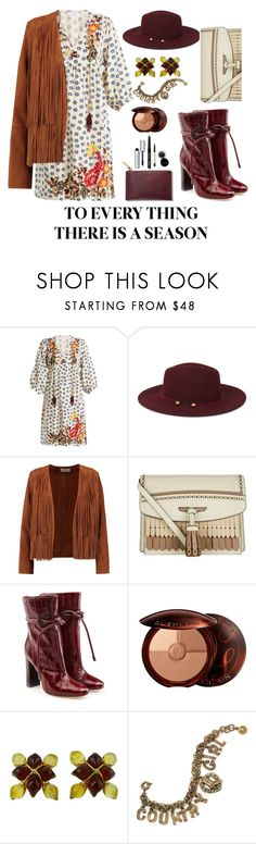 """Untitled #112"" by li-sa-mrie ❤ liked on Polyvore featuring Velvet by Graham & Spencer, Nine West, Sandro, Burberry, Malone Souliers, Guerlain, Yves Saint Laurent, Sweet Romance and Bobbi Brown Cosmetics"