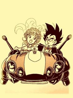 Vegeta and Bulma heading off on their honeymoon
