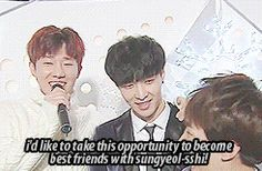 while chanyeol tryna be friends with sungyeol ㅋㅋ #exo #infinite 2/2