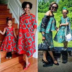 Mother and daughter Cloths by Baby African Clothes, African Dresses For Kids, African Wear, African Attire, African Women, African Print Fashion, African Fashion Dresses, Mother Daughter Fashion, African Blouses