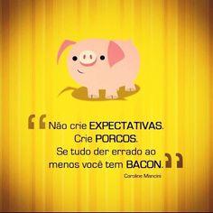 Não crie expectativas. Crie porcos.