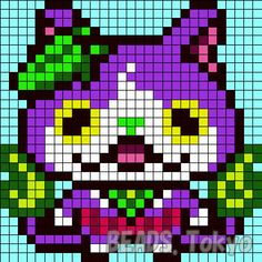 40 Idees De Pixel Yokai Watch Yokai Watch Perles Hama Point De Croix
