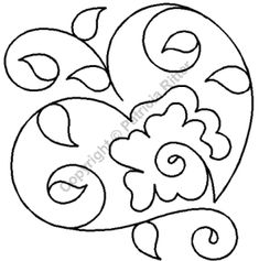 "Apple Continuous Line Quilting Stencils > 7"" - 8"" Block C.L. - Item: 7"" on QuiltingCreations..."