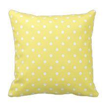 Yellow Polka Dot Pattern Pillow