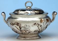 Dominick & Haff Antique Sterling Silver Aesthetic Movement Covered Tureen, New York - 1881