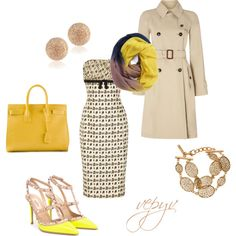 """Woman with yellow"" by viktoria-vepy on Polyvore"