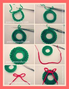 Special Collection of Crochet Christmas Ornaments crochet christmas ornaments lacy crochet: mini christmas wreath free pattern in case i ever learn to arkodqf Crochet Christmas Wreath, Crochet Wreath, Crochet Christmas Decorations, Christmas Crochet Patterns, Crochet Ornaments, Holiday Crochet, Crochet Crafts, Yarn Crafts, Crochet Projects