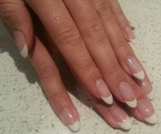 Natural nails are almost this long, next shellac appt I'm going for this shape and color