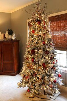Our Joy His Glory: O {Flocked} Christmas Tree