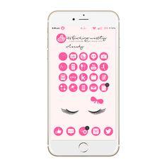 Pink Minimalicious theme. Jailbreak, Pink, iPhone