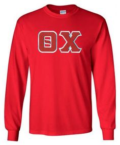 $20 Theta Chi Lettered Long sleeve