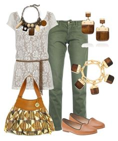 Mocasines by outfits-de-moda2 on Polyvore featuring moda, MONOCROM, Anniel, Tory Burch, Hive & Honey and Atelier