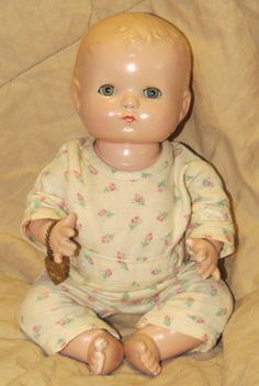 "Vintage 1940'S Effanbee Patsy Baby KIN 10"" Composition Doll W Bracelet"