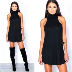 ⭐️SALE⭐️ ↠NWT High Neck Mini Dress↞ ↠NWT Clothes Envy High Neck Mini Dress↞  NWT. Size: small, can fit a medium.  New in package & with tags.  Faux suede that has stretch to it. Poly/rayon blend. Model is wearing a small. [o17] Clothes envy Dresses Mini