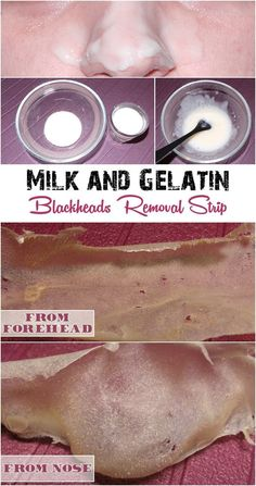 Home Made Milk and Gelatin Strip to Remove Blackheads | Her High Fashion