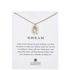 Dogeared Two-Tone Dream Dreamcatcher Disc Charm Necklace (88 AUD) ❤ liked on Polyvore featuring jewelry, necklaces, two tone necklace, charm chain necklace, 14 karat gold jewelry, disc necklace and charm necklace