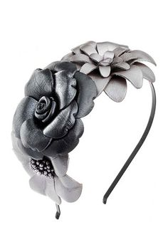 Topshop Leather Flower Aliceband - Stylehive